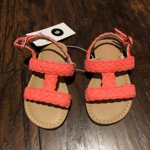 Cat and jack NWT size 6 sandals